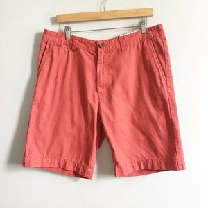 MERONA Flat Front Deck Shorts Classic Fit Red 36